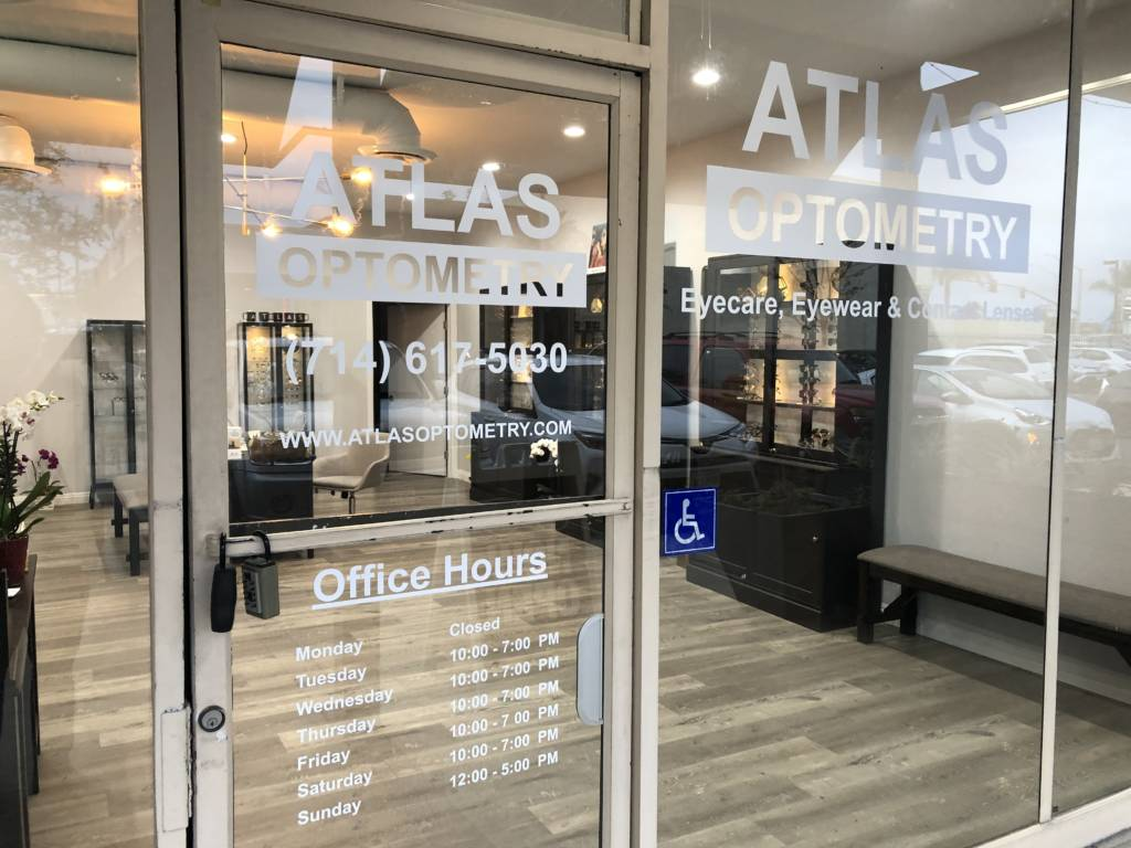 Optometrist in Costa Mesa Front of Store